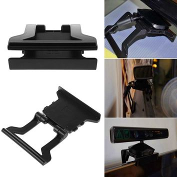 OOTDTY Mini TV Clip Mounting Holder Stand For Xbox 360 X-360 Kinect Sensor Video Games