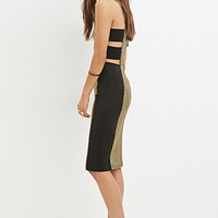 Metallic Cutout Bodycon Dress