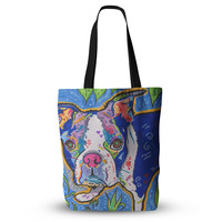 """Rebecca Fischer """"Addy Mae"""" Pug Terrier Tote Bag, 13"""" x 13"""" - Outlet Item"""