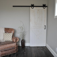 Rustic Horseshoe Sliding Door Hardware by NWArtisanHardware
