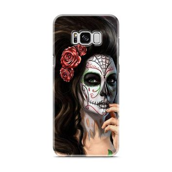 Girl Floral Sugar Skull Samsung Galaxy S8 | Galaxy S8 Plus Case