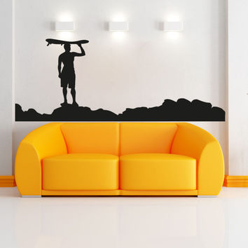 Vinyl Wall Decal Sticker Beach Surf #OS_AA1247