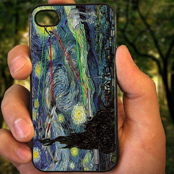 The Starry Night Star Wars case for iPhone 4 4S 5 5C 5 5S 6 Plus,Samsung Galaxy s3 s4 s5,Note 3