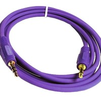 Importer520 Purple 3 Feet Mini 3.5mm Plug Male to Male Stereo Auxiliary Aux Cord Cable For iPhone 5 4S 4 3GS iPod Touch Samsung Galaxy S5 S4 S3 S2 Note 2 Note 3 Nokia Lumia 920 HTC OneX EVO 4G Rhyme DROID RAZR MAXX Google Nexus LG Optimus G BlackBerry Z10