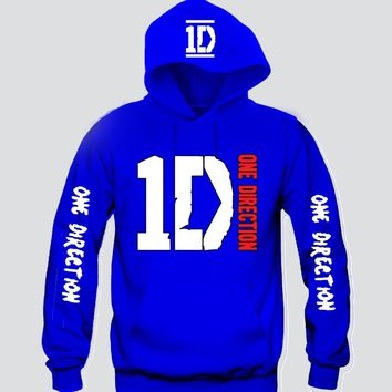 "1D ""3prints"" Unisex Hooded Sweatshirt Funny and Music"