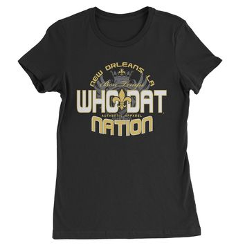 Who Dat Nation New Orleans (Color) Womens T-shirt