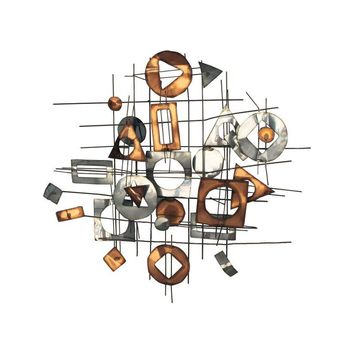 Pre-owned 1960s C. Jere Metal Wall Sculpture