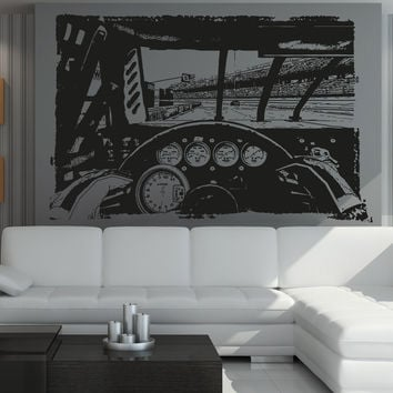Vinyl Wall Decal Sticker Nascar Driving #5107