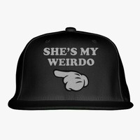 She's My Weirdo Embroidered Snapback Hat