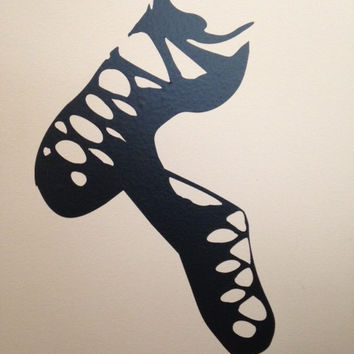 Irish Dancer Ghillies Wall Decal