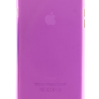 Purple Frosted Transparent Soft Case for iPhone 6 Plus