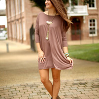 Piko Dress - Brown