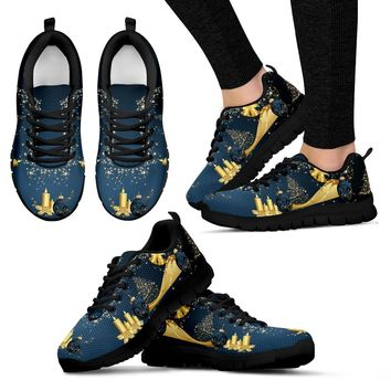 Gold Christmas Women's Sneakers|Running Shoes
