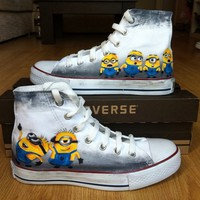 Minion Shoes Converse - Painted Shoes by BlingLogo