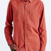 Koto Raw Hem Button-Down Shirt- Red