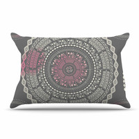 "Famenxt ""Culture Cut Boho Mandala"" Pink Ilustration Pillow Case"