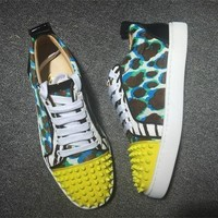 Cl Christian Louboutin Louis Junior Style #2034 Sneakers Fashion Shoes