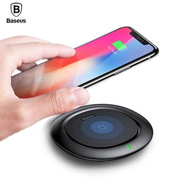 Qi Wireless Charger Baseus Fast Wireless Charging Pad For iPhone X 8 Plus Samsung Galaxy Note 8 S8 S7 S6 Edge Wirless Charger