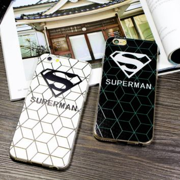 Cool Creative Superman Iphone7 7Plus 6 6s plus 5S Se Cover Case Best Gift 007