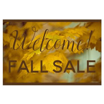Yellow autumn maple leaves. Add you text or name. Lawn Sign