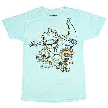 Nickelodeon Mens' Rugrats Running From Reptar T-Shirt