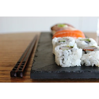 Sushi & Chopstick Plate Set - Black