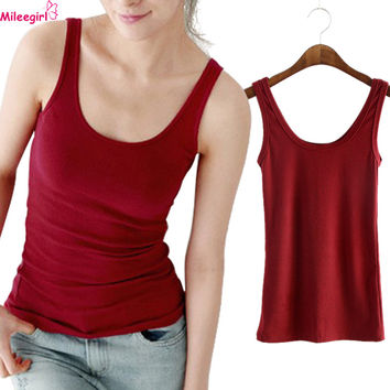 Women Sexy Soft Tank Tops,5 Colors Solid Sleeveless U Fitness Gym Croptops,Sport Camisole Vest Top Cropped For Ladies