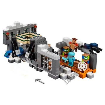 compatible with lego my worlds MineCraft 21124 Bela 10470 571pcs End Portal Figure building blocks Bricks toys for children