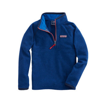 Boys Textured Fleece 1/4-Zip