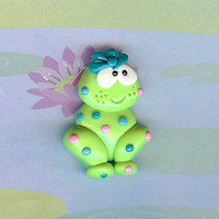 Boutique Polymer Clay Beads and Bow Centers Teal by cakecreations
