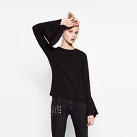 RIBBED FRILLED SWEATERDETAILS
