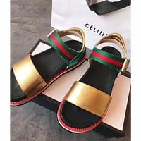 shosouvenir(GUCCI )Classic striped sandals