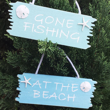 Beach Christmas Ornament, Seashell Christmas Ornament, Shell Christmas Ornament, Beach Decor, Beach Sign.
