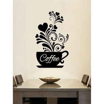 Coffee Garland Wall Decal