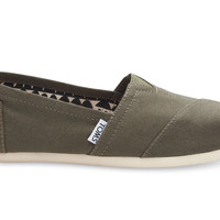 TOMS Classic Women Tarmac Olive Canvas