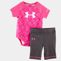 Girls' Newborn UA Favella Lace Print Capri Set