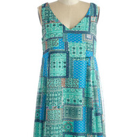 ModCloth Mid-length Sleeveless Shift Pedal to the Medley Dress