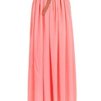 Elegant Wholecolored Pleated Chiffon Skirt - OASAP.com