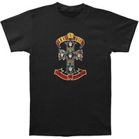Guns N Roses Men's  Cross T-shirt Black