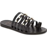 Black Suede Studio Julie Strappy Sandal (Women) | Nordstrom