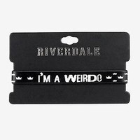 "Licensed cool Riverdale Jughead Rubber bracelet ""I'm a Weirdo"" Crown LOGO Hot Topic Exclusive"