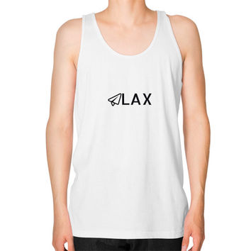LAX Unisex Fine Jersey Tank (on man)