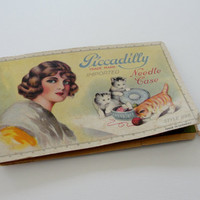 Vintage Piccadilly Needle Case, Imported Made in Germany, Vintage Decorative Paper Needle Case 1920s
