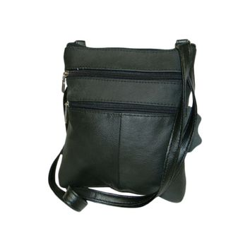 Genuine Leather Cross-Body Bag - Assorted Colors