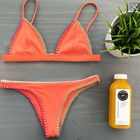 Fashion Sexy Orange Sling Bikini