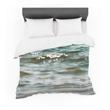 """Debbra Obertanec """"Turquoise Blue"""" Green Water Featherweight Duvet Cover"""