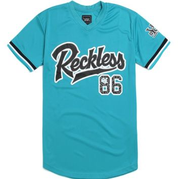 Young & Reckless Game Winner Pullover Jersey - Mens Tee - Blue