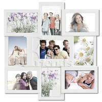 """Decorative White Wood """"Friends"""" Wall Hanging Collage Picture Photo Frame"""
