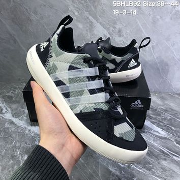 DCCK2 A983 Adidas Terrex boat Retro Camouflage breathable Wire Intervention Water Shoes Black Green