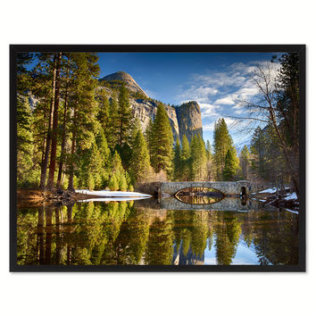 Stoneman Bridge Yosemite Landscape Photo Canvas Print Pictures Frames Home Décor Wall Art Gifts